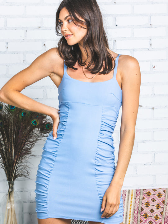 Sasha Stretch Shirring Dress