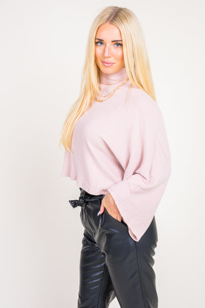 Right On Wide Sleeve Mock Neck Top