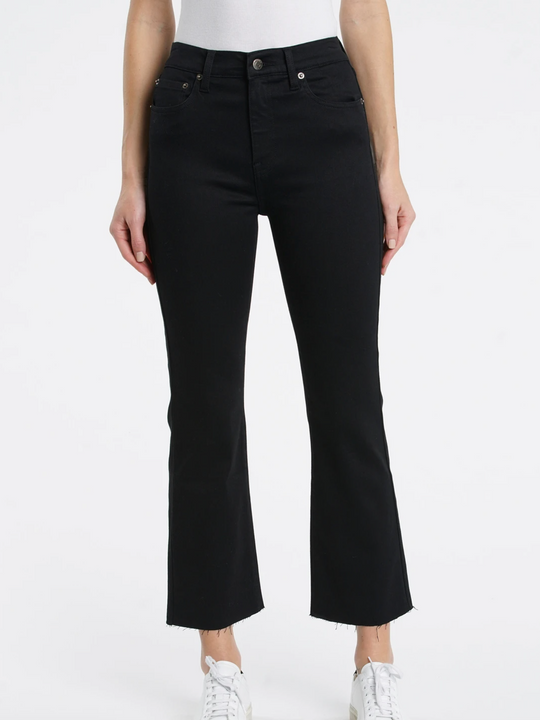 Pistola Lennon High Rise Cropped Jeans in Jet Black