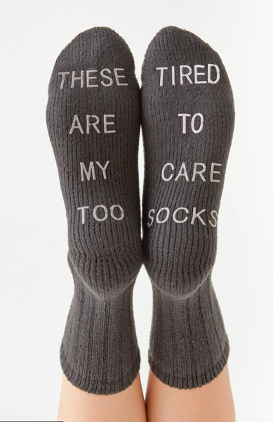 Too Tired Rib Socks