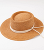 LUCCA Seabreeze Boater Straw Hat