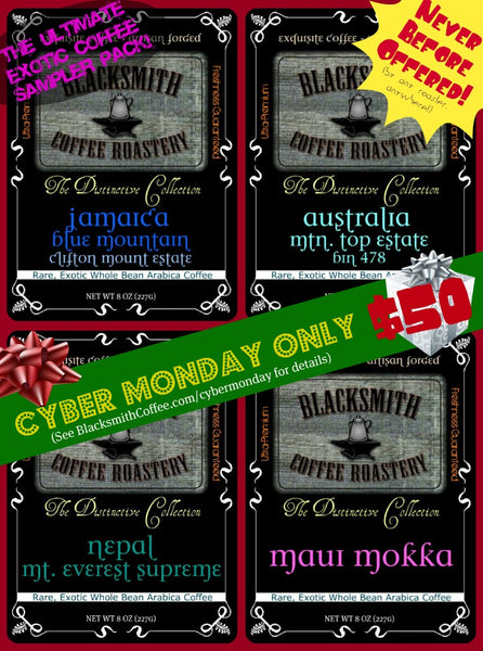 Ultimate Cyber Monday Exotic Coffee 4/pack