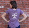 Women's Short Sleeve T-Shirt Purple