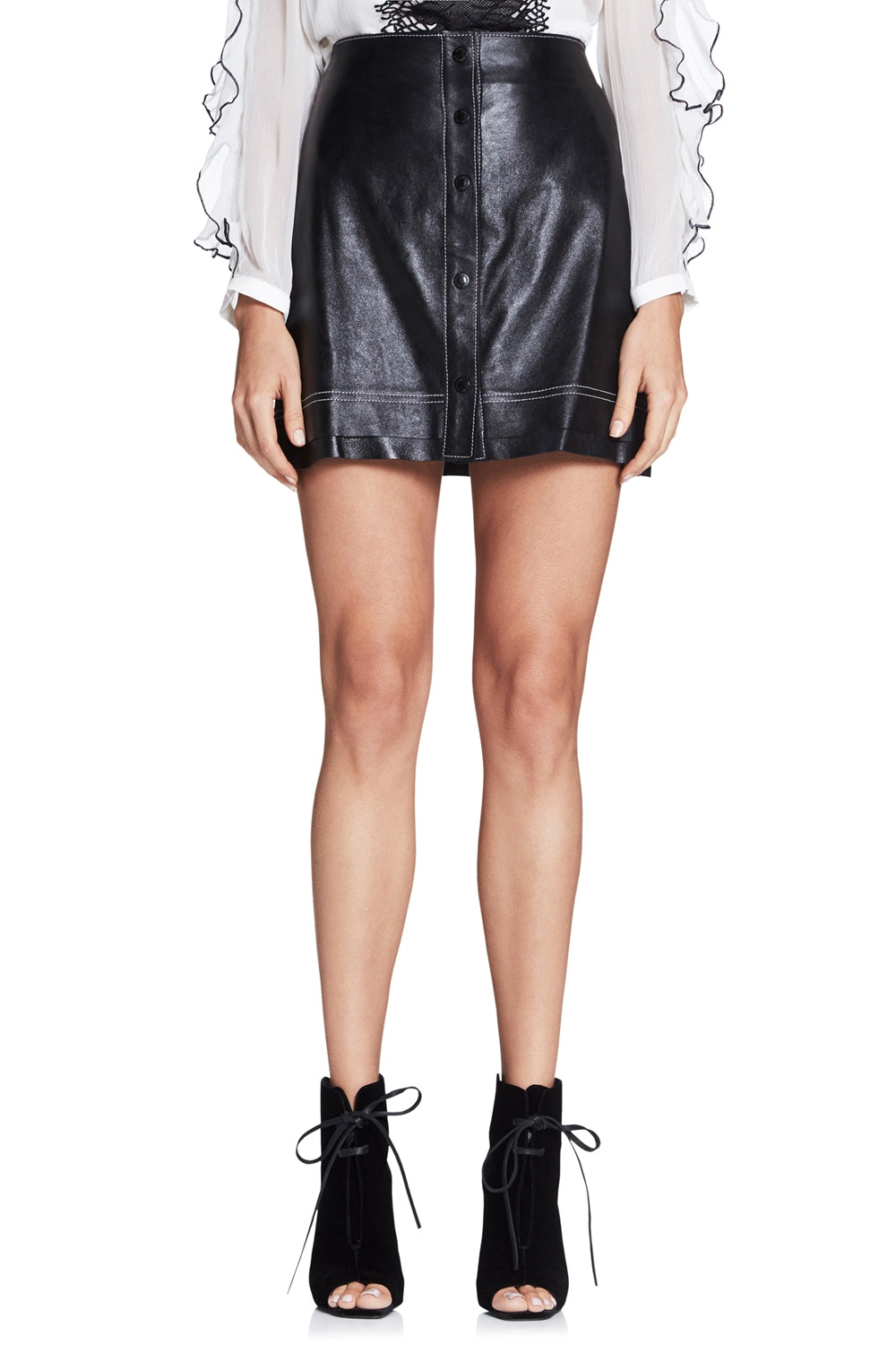MOD SQUAD LEATHER MINI SKIRT