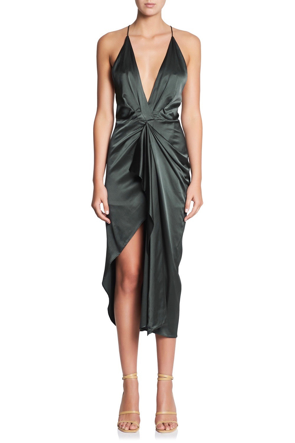 GREEN LIGHT SLIP DRESS