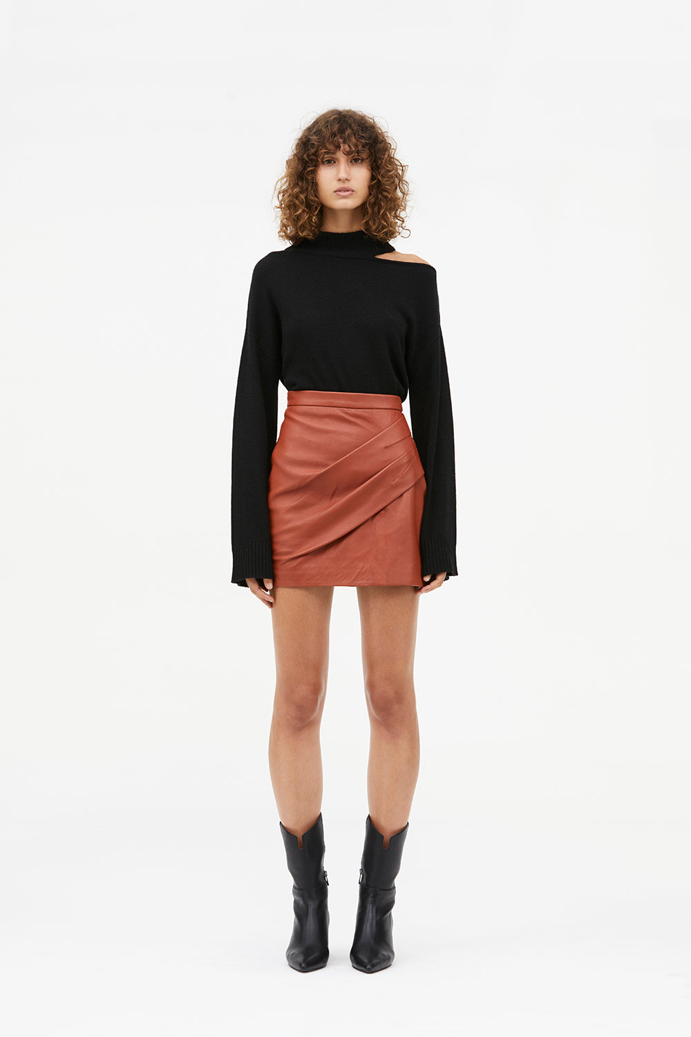 OPEN SEASON LEATHER SKIRT