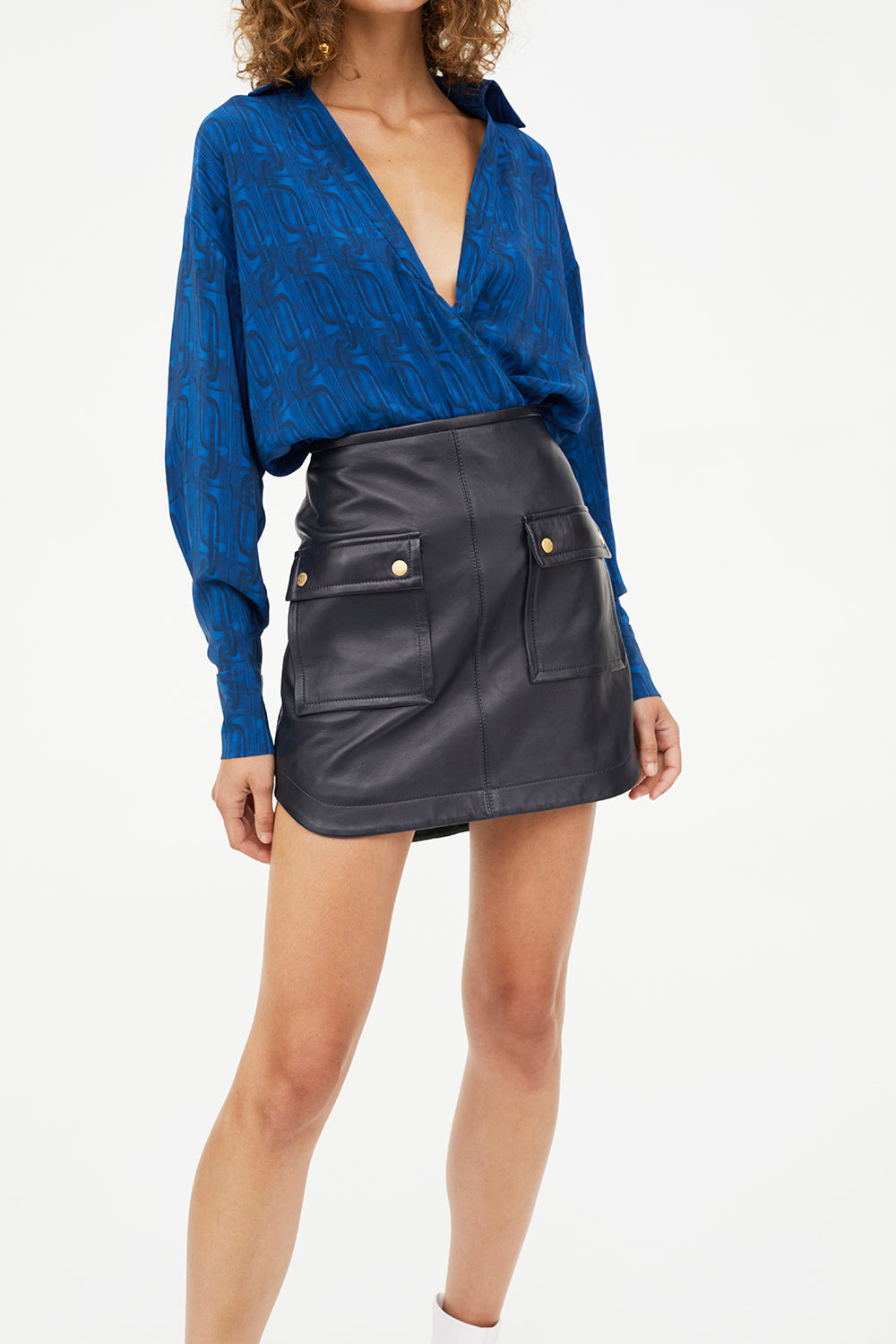OPEN SEASON LEATHER MINI SKIRT