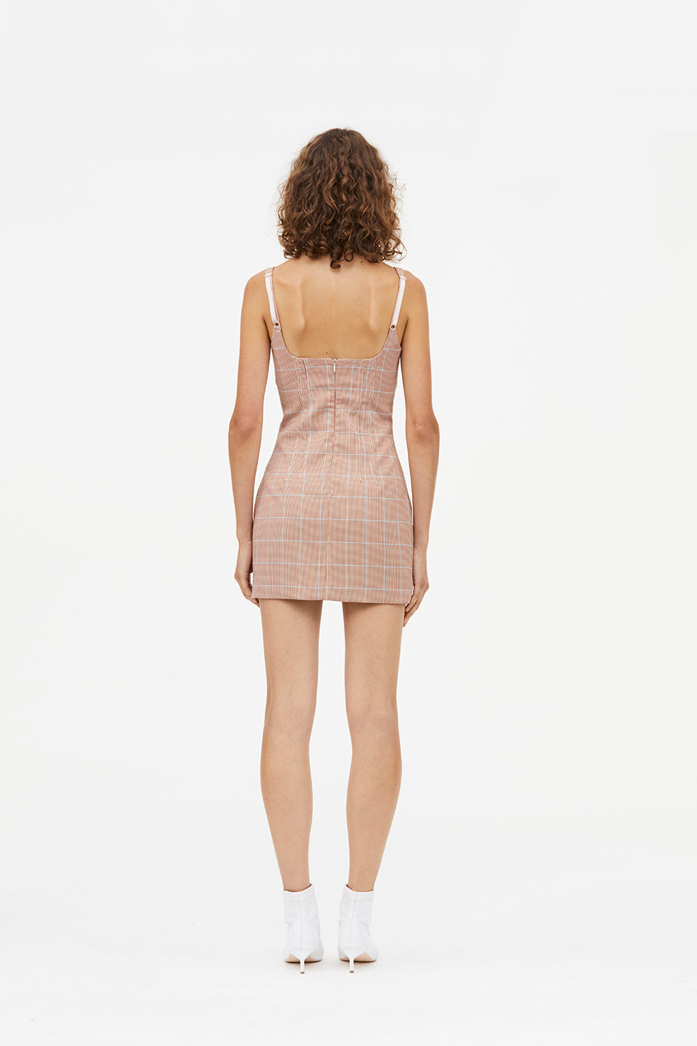 IDENTITY CHECK MINI DRESS