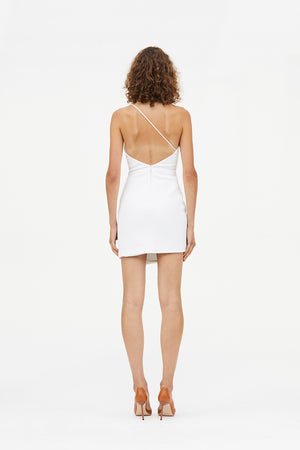 REBEL WHITE MINI DRESS