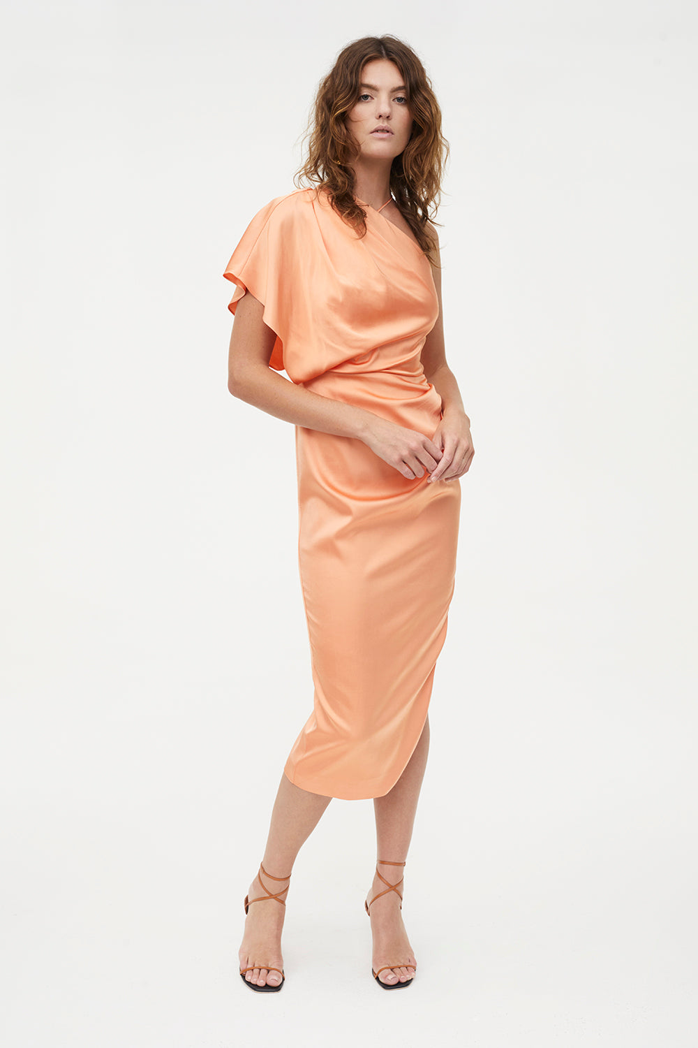 HI EXPOSURE ASYMMETRIC DRESS