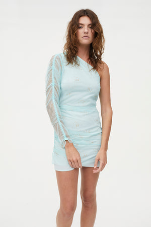 GLITZ BLITZ ASYMMETRIC DRESS