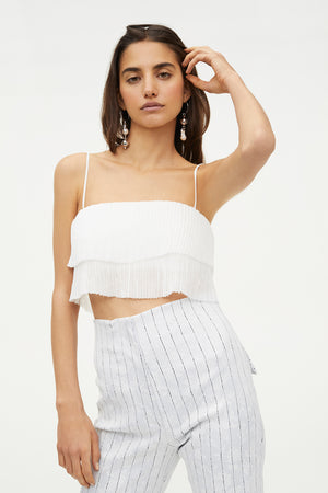 HOT CRUSH PLEATED CAMI