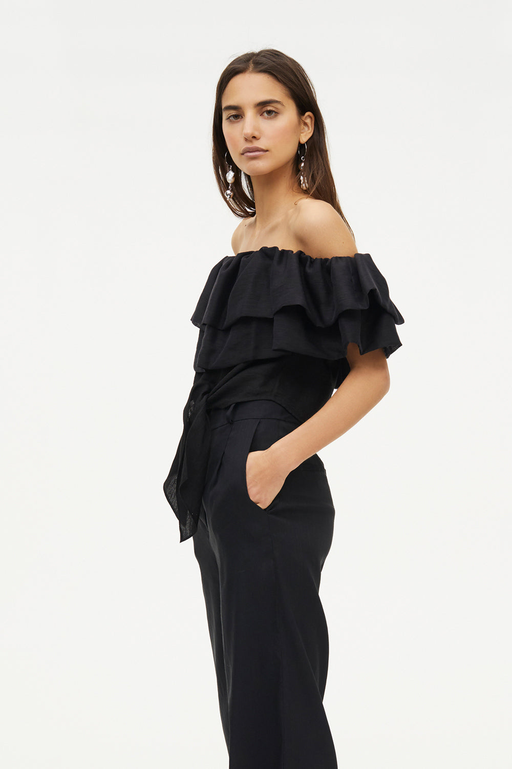 GLOBAL ROAMING OFF SHOULDER TOP