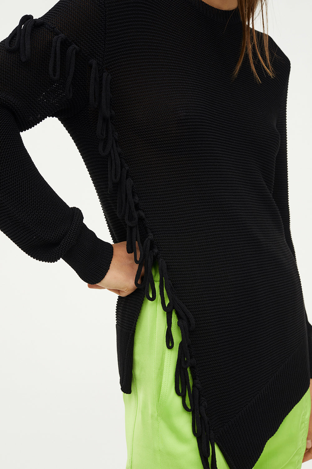 FRINGE MOVEMENT KNIT