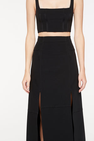 SHARP SHOOTER MIDI SKIRT