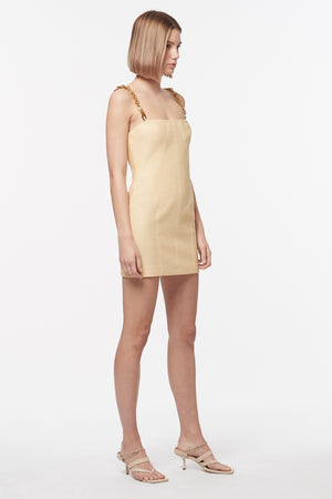 NEO CLASSIC MINI DRESS W/CHAIN