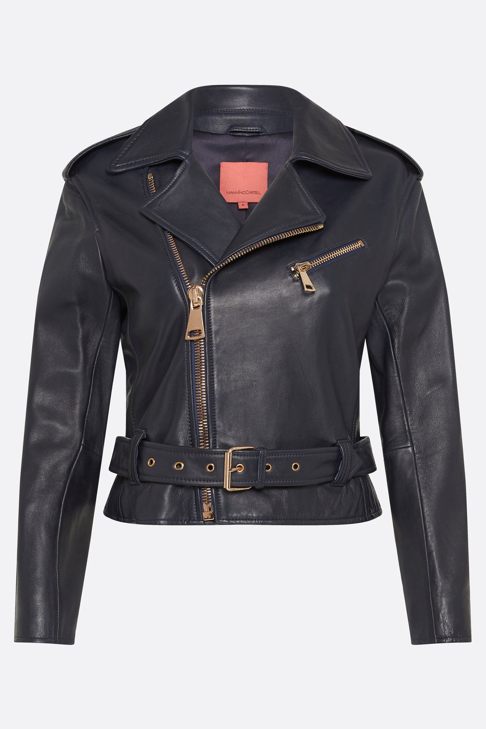 OPEN SEASON LEATHER BIKER JACKET