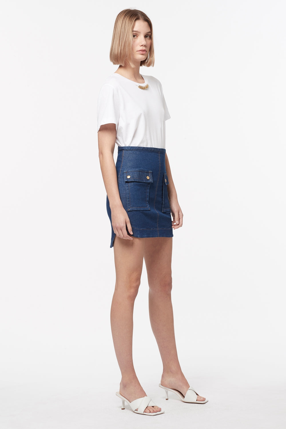 FADED GLORY DENIM MINI SKIRT