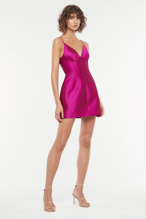 ULTRA FUCHSIA MINI DRESS