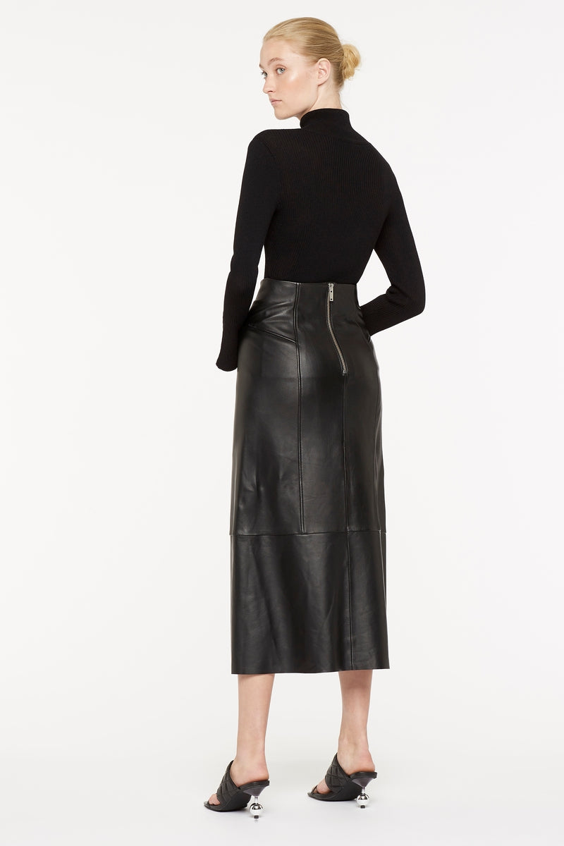 POWER PLAYERS LEATHER SKIRT