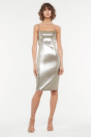 FLASH DRIVE MIDI DRESS