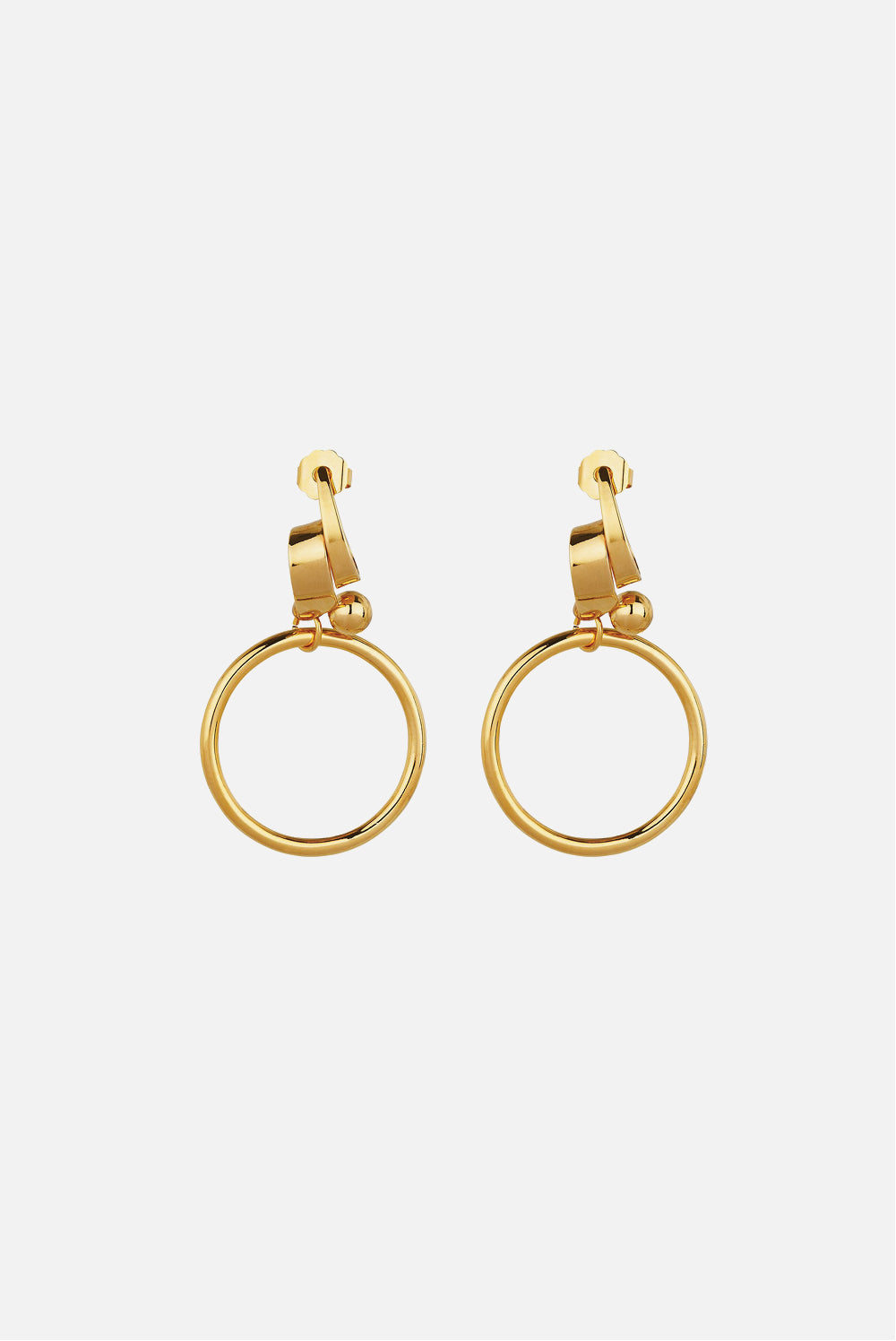 MOUNSER TORQUED ELIPSE HOOP EARRING
