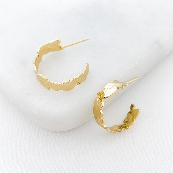 LIV TEXTURED HOOPS | Small