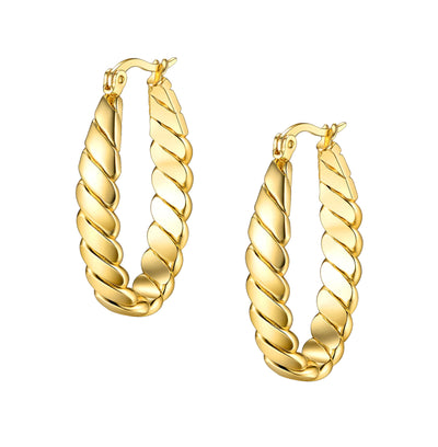 Gold Hoop Earring, Gold Hoops, Stainless Steel Hoops