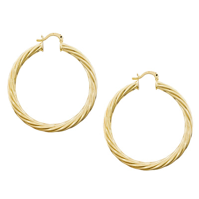 Gold Hoop Earrings, Large Gold Hoop, Large Gold Earrings