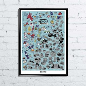101 Things To Do With The Family Scratch Poster