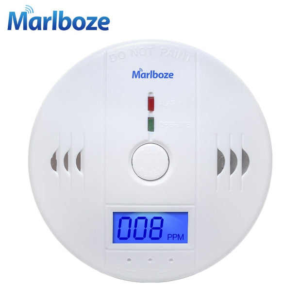 MARLBOZE 85dB High Sensitivity LCD Photoelectric Carbon Monoxide Detector  Toffee Tops Gear