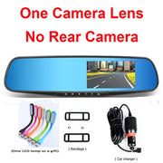 Jansite Car Camera Rearview Mirror Dual Lens FHD 1080p Night Vision  Toffee Tops Gear