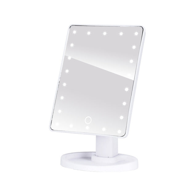 LED Professional  Adjustable LED Light Makeup Mirror - 16 x 17cm - Touch Screen - FREE makeup brush!  Toffee Tops Gear