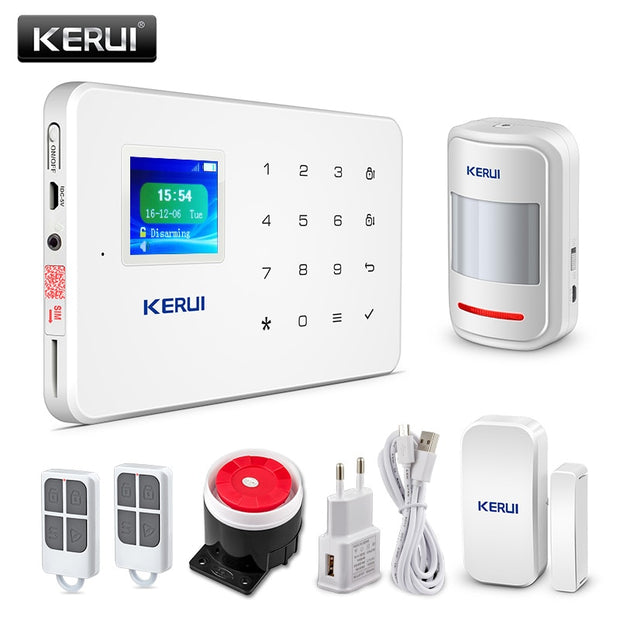 KERUI G18 Wireless Home GSM Burglar Alarm System DIY Kit APP Control With Motion Detector  Toffee Tops Gear