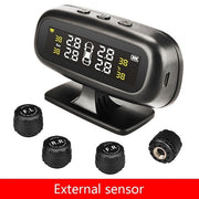 Solar TPMS Car Tyre Pressure Alarm Monitor System with 4 Sensors  Toffee Tops Gear