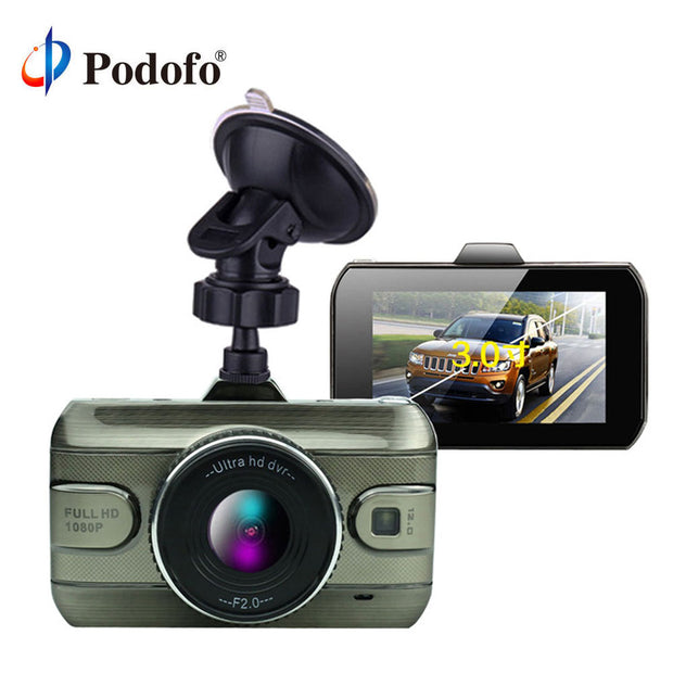 Podofo 3 Inch FULL HD Loop Recording DashCam Night Vision  Toffee Tops Gear