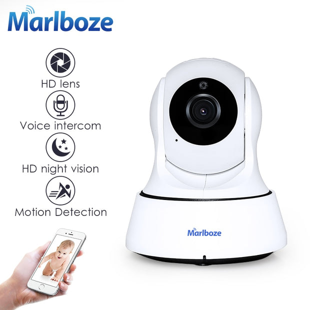 Marlboze 1080P HD Wireless Wifi IP Indoor Surveillance Camera - Night Vision CCTV  Toffee Tops Gear