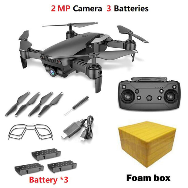 Teeggi M69 FPV Drone with 720P Wide-angle WiFi Camera HD Foldable RC Mini Quadcopter Helicopter VS VISUO XS809HW E58 X12 Dron  Toffee Tops Gear