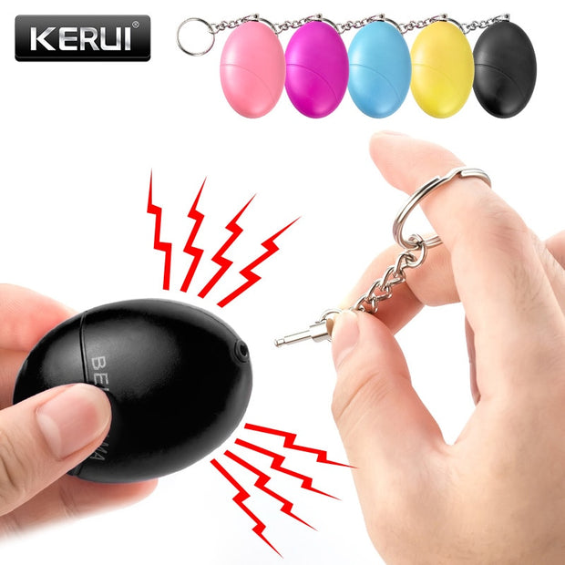 KERUI Emergency keychain Alarm 120dB (as loud as a jack hammer at 8 metres)  Toffee Tops Gear