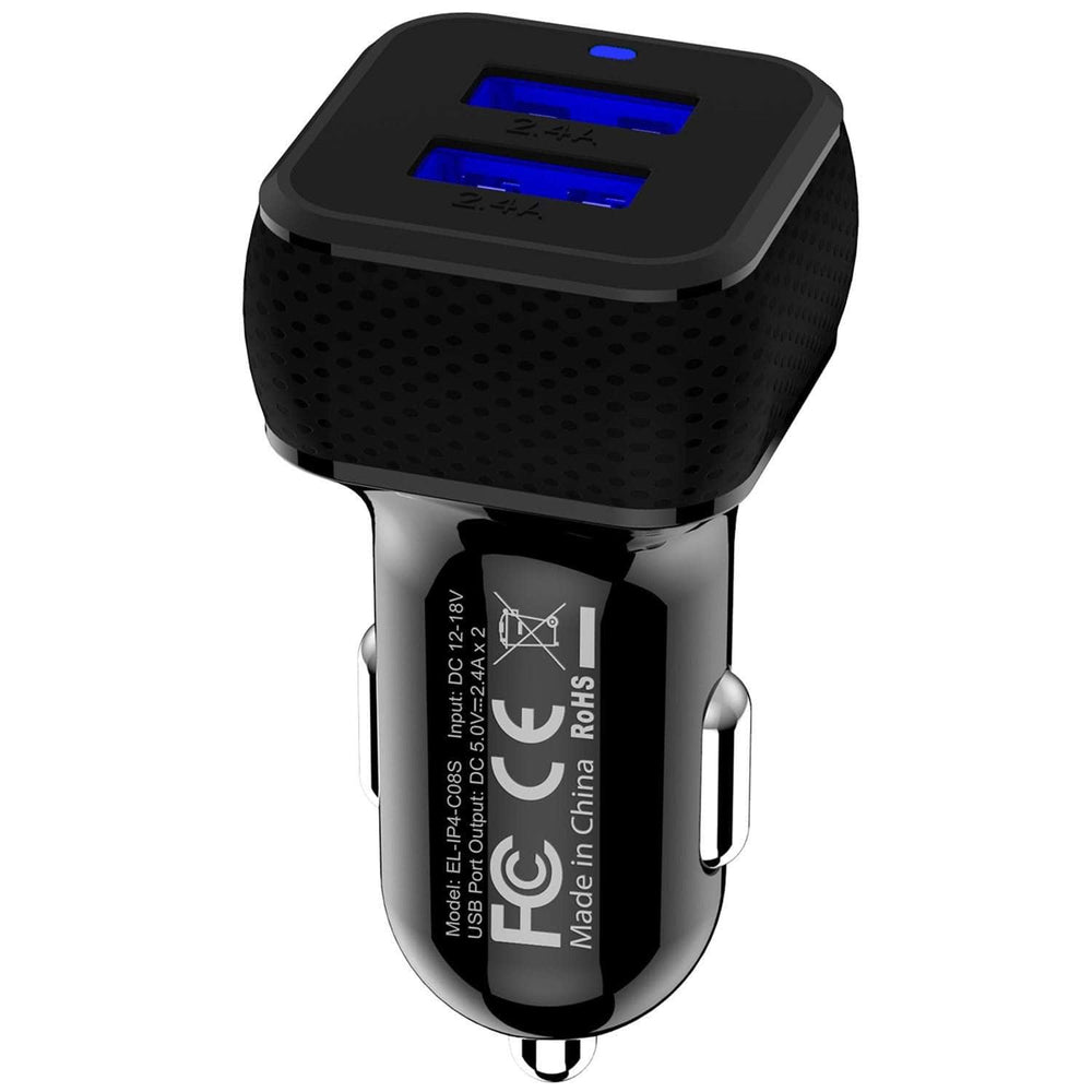 Annew Dual-Port USB Car Charger black