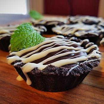 Dark Chocolate Mint Ganache Tartlets