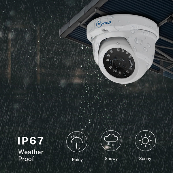 2.0 MP (1080P)/5.0 MP White Dome Camera Hybrid XVR Camera System with 4/8 pcs Camera