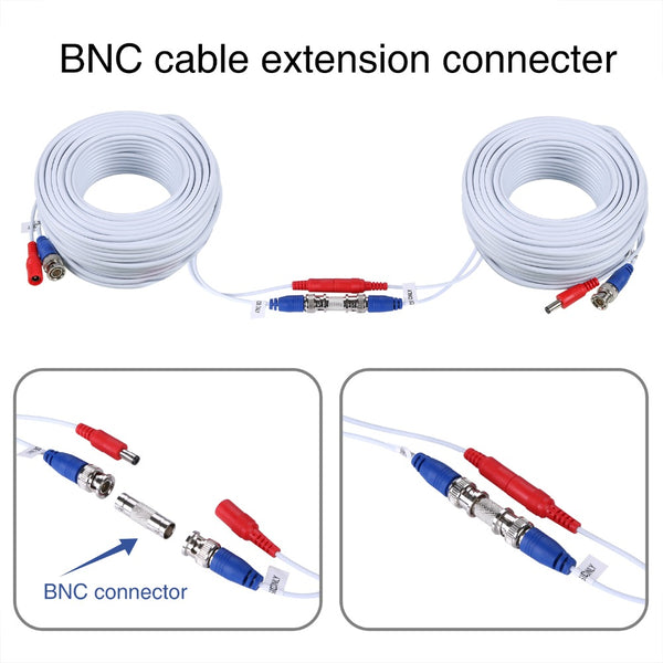 30m/18.3m(100/60Ft) CCTV Cable BNC 4 pcs/pack