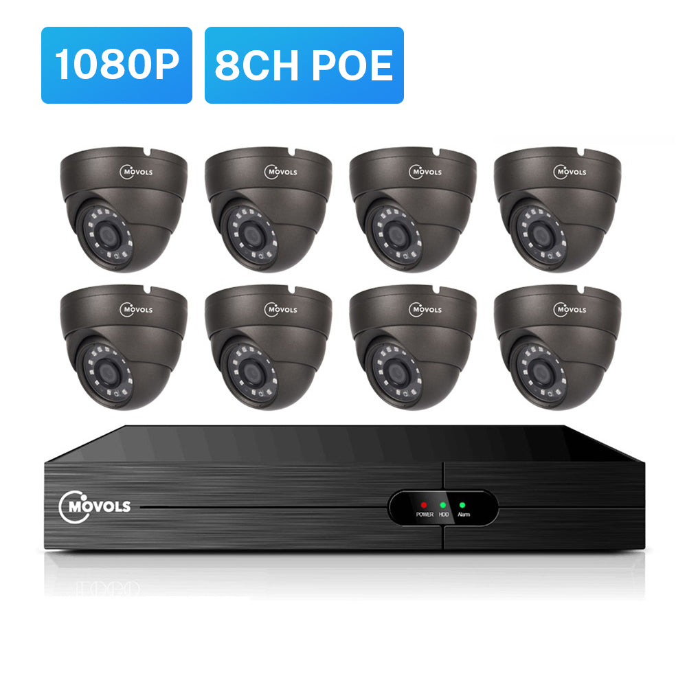 2.0 MP (1080P) POE IPC Bullet/Dome Network Security Camera System
