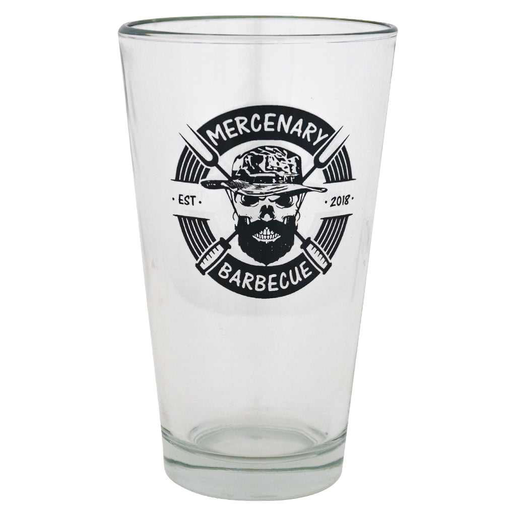 pint glass, bbq pint glass