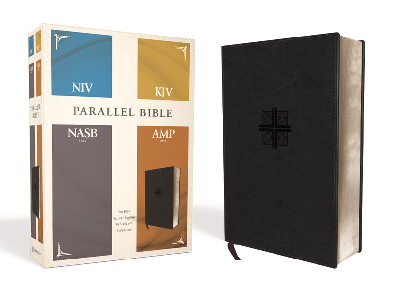 NIV, KJV, NASB, Amplified, Parallel Bible: Four Bible Versions Together for Study and Comparison