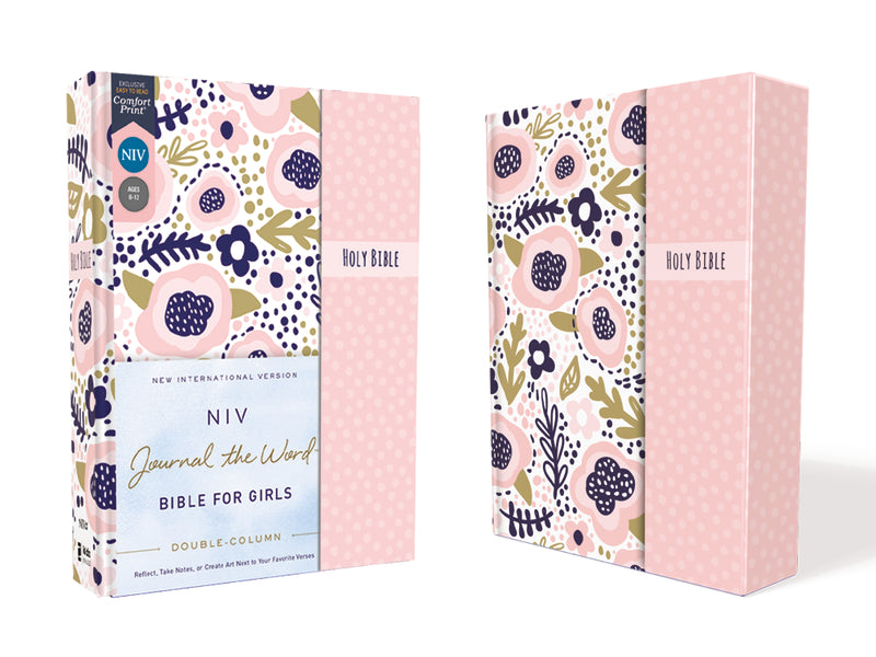 NIV, Journal the Word Bible for Girls, Double-Column, Magnetic Closure, Red Letter, Comfort Print: Reflect, Take Notes, or Create Art Next to Your Favorite Verses