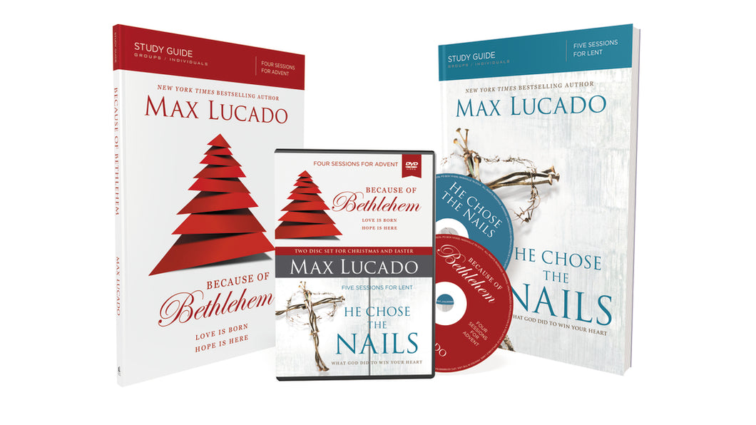 Because of Bethlehem/He Chose the Nails Study Guides with DVD: Love is Born, Hope is Here