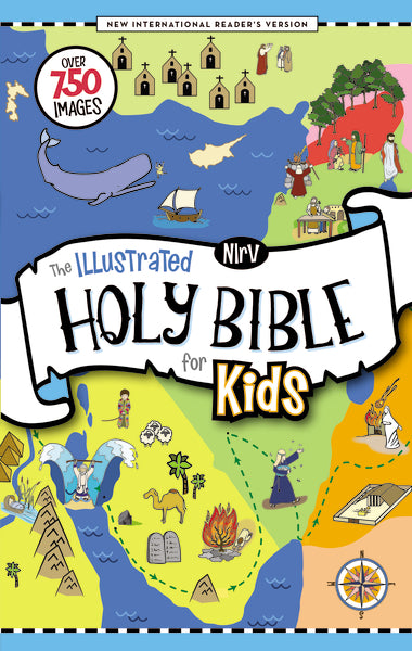 NIrV, The Illustrated Holy Bible for Kids, Hardcover, Full Color, Comfort Print: Over 750 Images
