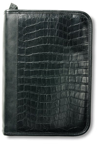 Alligator Leather-Look Organizer Black XL Book and Bible Cover